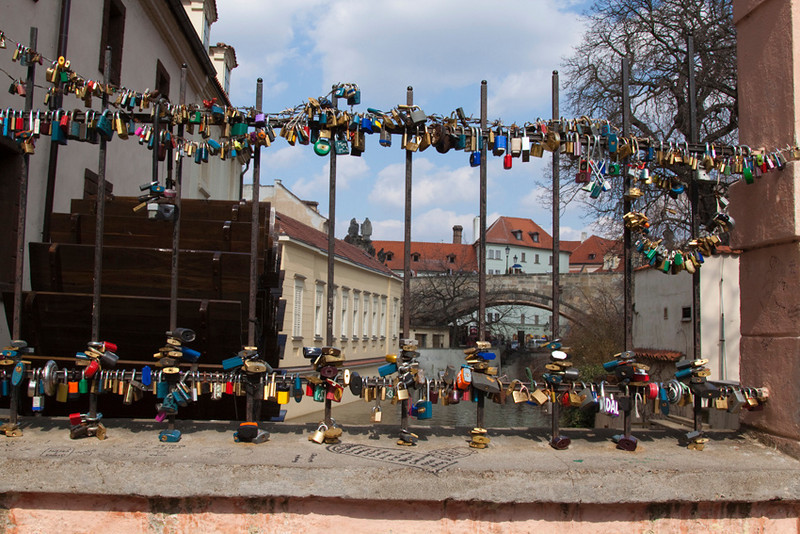 Locks, local tradition after wedding ceremony