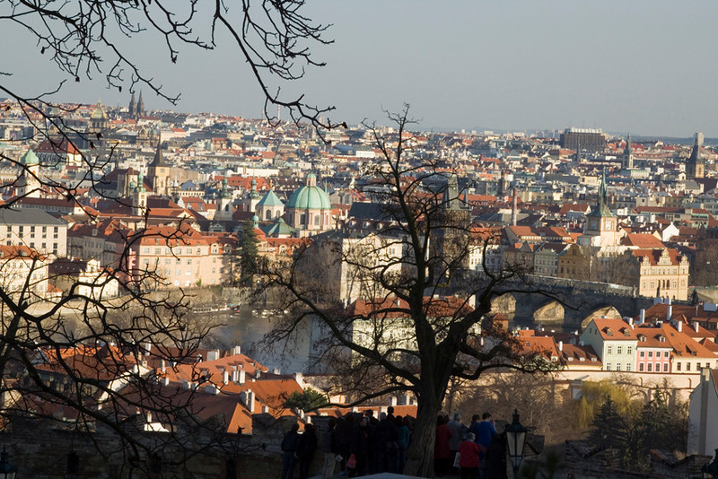 view of the town from the Castle