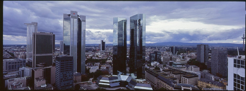 Panorama view of Frankfurt from hotel Innside<br /> Xpan w/30mm