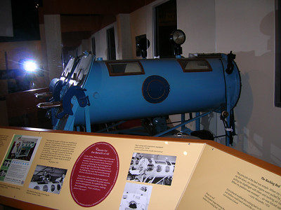 Iron lung, polio exhib'n, Museum of American History