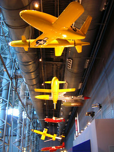 Drones and missles, Nat'l Air and Space.