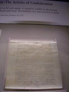 Articles of Confederation.