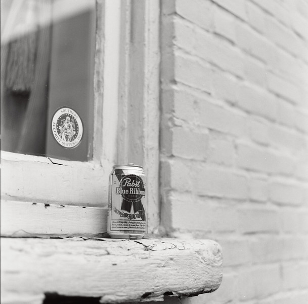 Northern beer, Southern town. Hasselblad 500c/m, Kodak T-Max 100