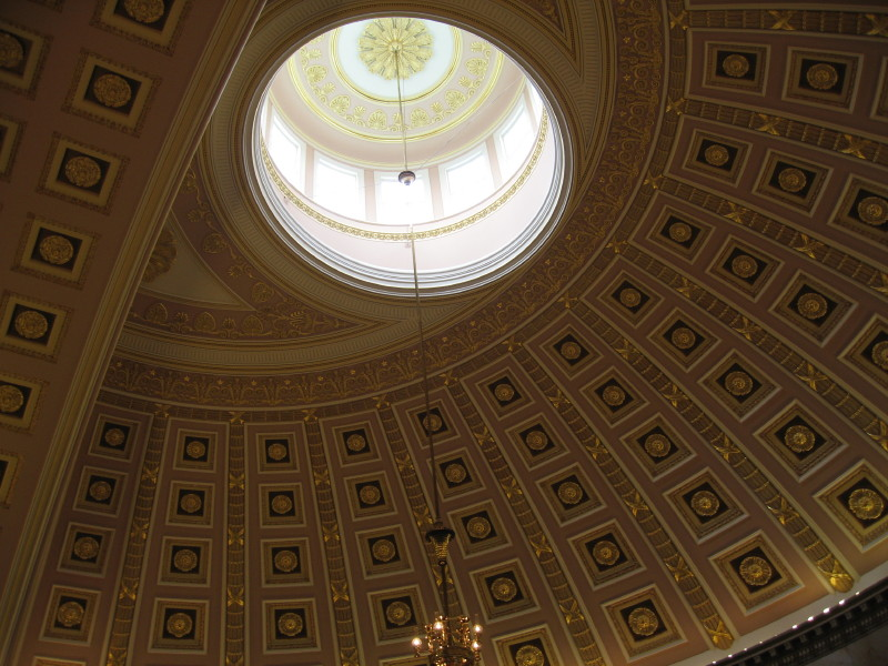 Original house chamber dome.