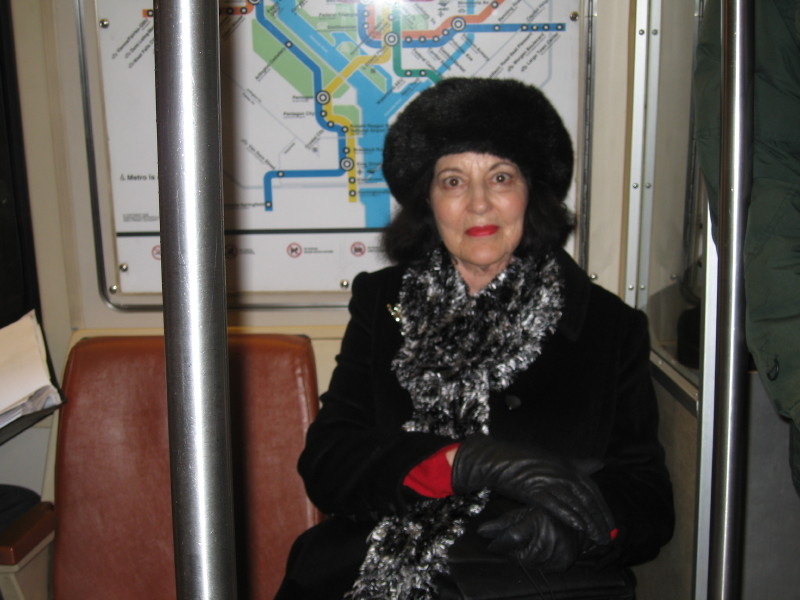 Mom, the subway passenger.