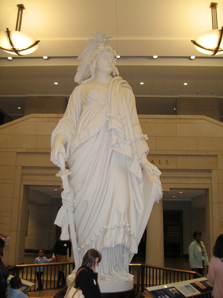 Lady Freedom, from which the bronze Lady Freedom at the top of the Capitol was cast.