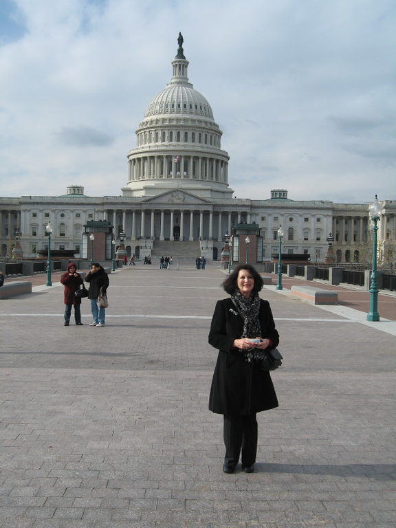 In front of Capitol.