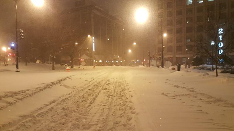 Walking to dinner on M Street