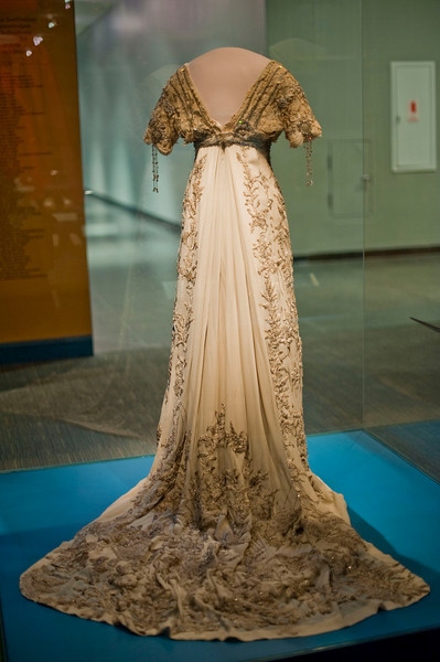 Helen Herron Taft's gown, the first of the First Ladies' gowns donated to the Smithsonian back in 1912.