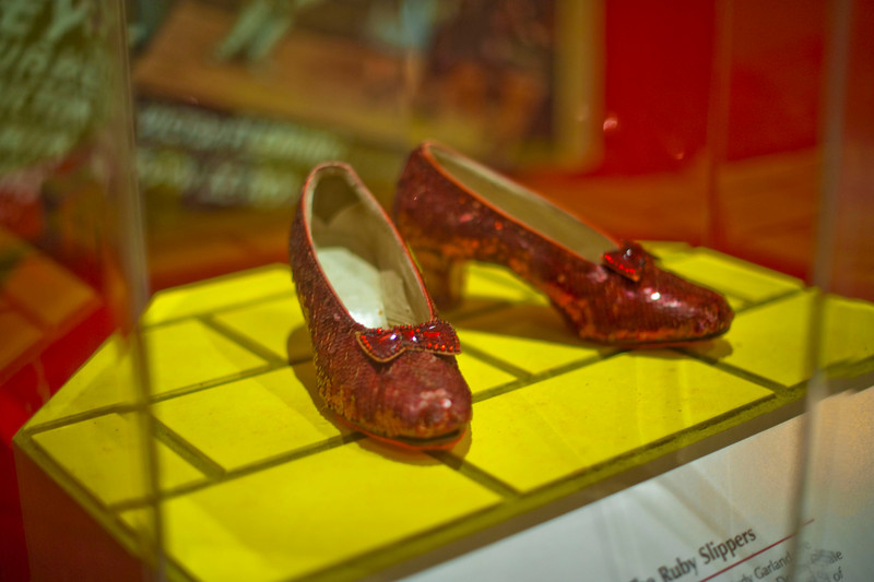 Ruby slippers.  From Smithsonian's Treasures of American History.  To get home, click heels x 3.