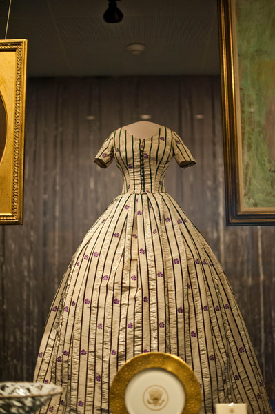 Mary Todd Lincoln wore this silk taffeta two-piece dress in 1861.