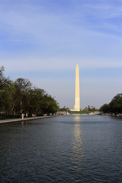 The Washington Monument and the Reflecting Pool at 5:30pm...