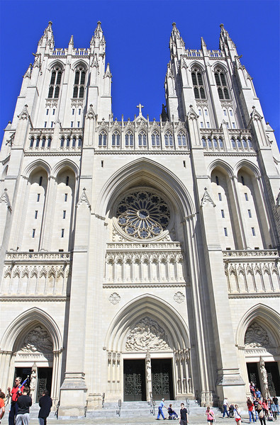 Washington National Cathedral in DC - a beautiful and sunny Saturday afternoon (4/12/14).