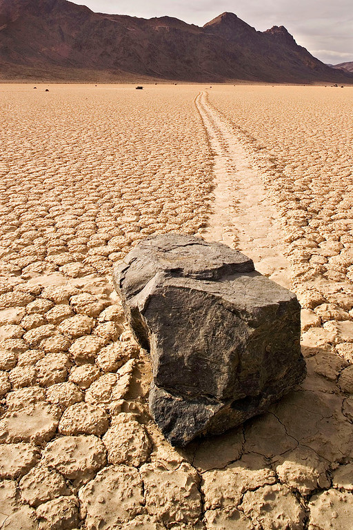 """""""MOVING"""" ROCK AT THE RACETRACK"""