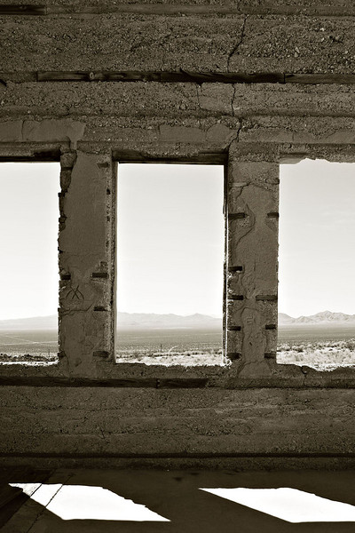 """WINDOW VIEW"" - RHYOLITE GHOST TOWN"