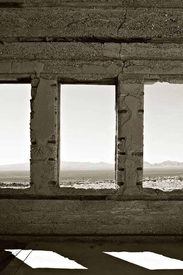 """WINDOW VIEW"" - RHYOLITE GHOST TOWN"