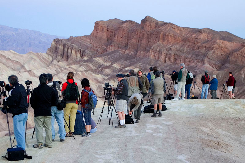 """SHOOTERS"" AWAITING SUNRISE AT ZABRISKIE POINT"