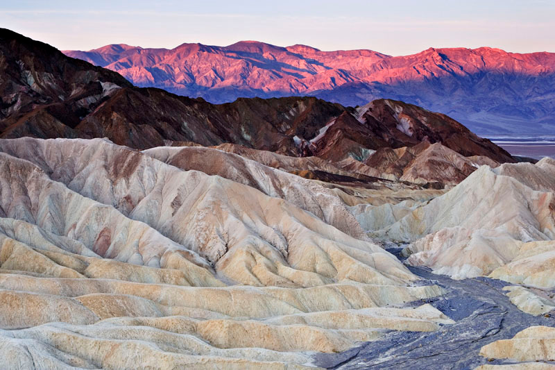 ZABRISKIE POINT AT FIRST LIGHT