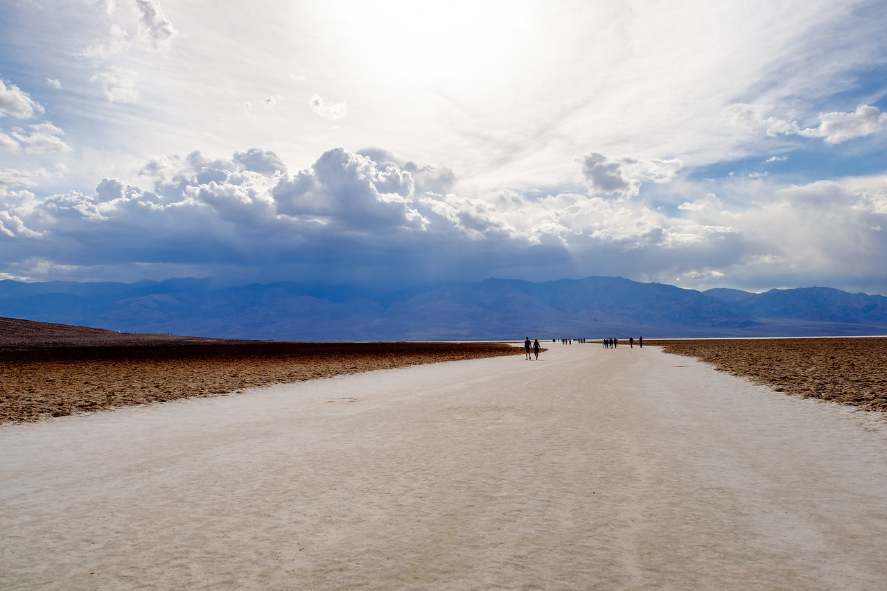 TRAIL INTO THE BADWATER SALT FLATS