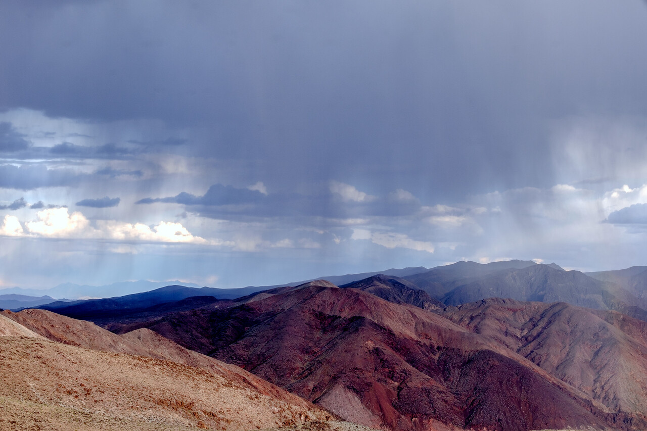 RAINSHOWERS AS SEEN FROM DANTE'S VIEW