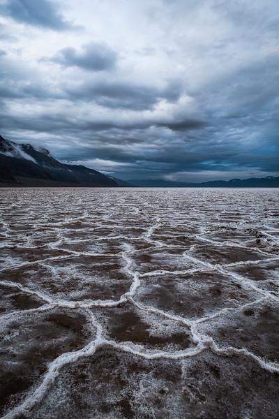 RAIN SOAKED SALT FLATS AT BADWATER