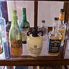 "William ""Wild Bill"" Faulkner's liquor cabinet"