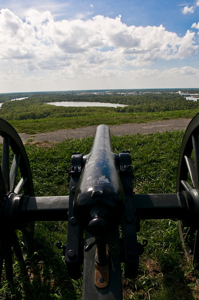 This Vicksburg gun emplacement, overlooking the Mississippi River, essentially controled the River during the Civil War.