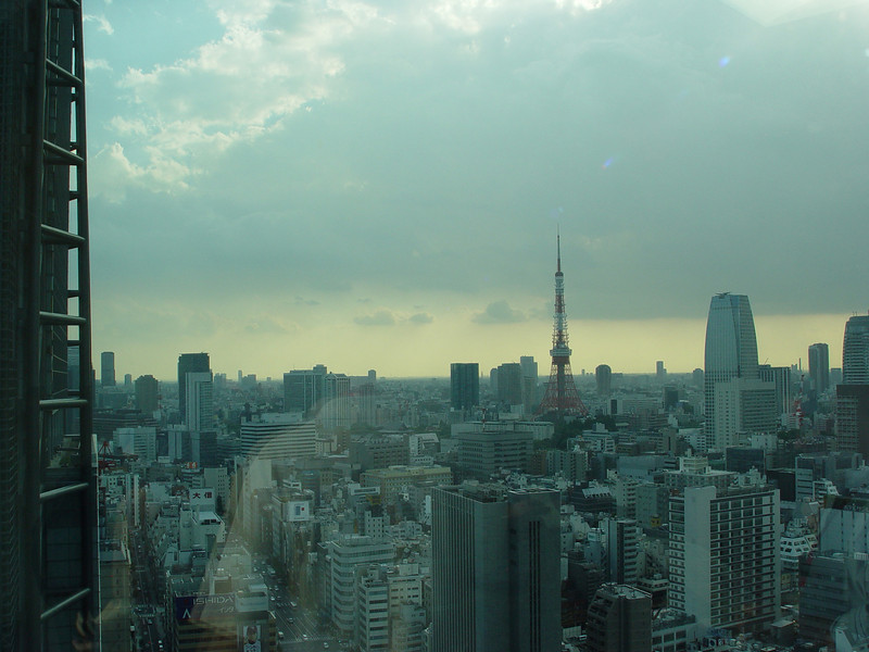 View of Tokyo Tower direction from Fujitsu