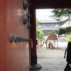 Entering the Buddhist temple