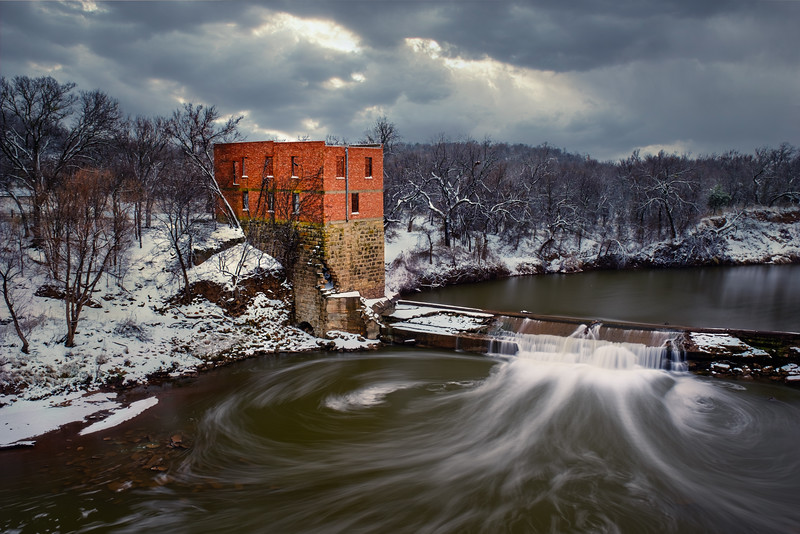 WINTER DAY AT THE OLD MILL
