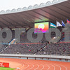First time the South Korean and DPR Korea flag both flying inside the national stadium