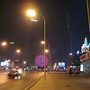 Dalian at night... The color changing globe at the back, the KFC palace at the right...