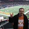 Tim at Cowboy Stadium for Big 12 Championship game, 5 Dec. 2009