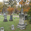 Great fall foliage at Greenwood Cemetery, Dallas