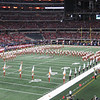 "Longhorn Band in ""T"" formation."