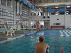 Ellie's first time to jump off a diving board. The Natatorium in Allen, Texas.