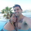 Courtney and Wade in the hotel pool