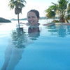 Courtney in the hotel's infinity pool