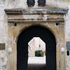 The castle gate: At Otocec castle in Slovenia