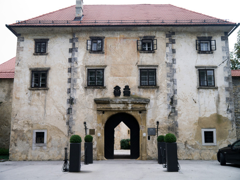 Entrance: At Otocec castle in Slovenia