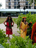Big Island, HI - royalties arriving at a luau at the King Kamehameha Hotel