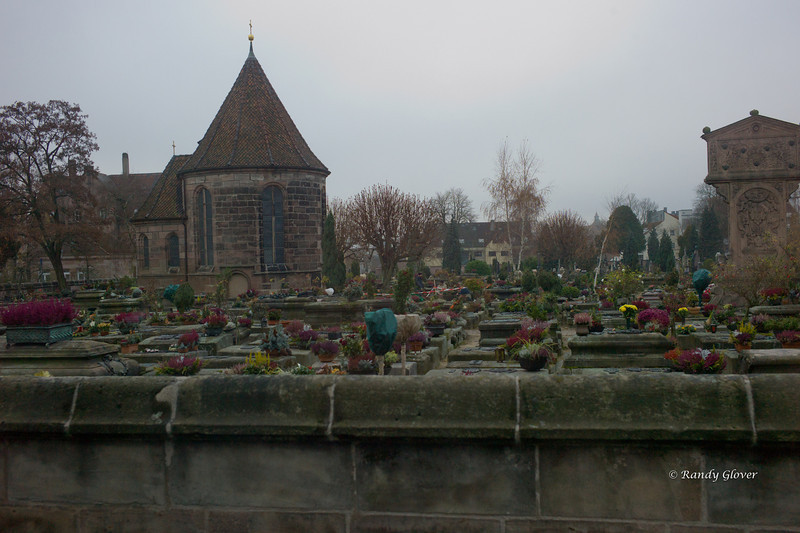 Cemetery in Nürnberg.  Taken from a bus window as we had no chance of stopping.