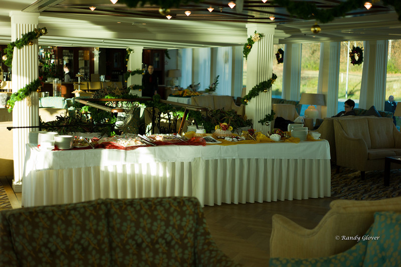 Lounge on the boat.  Always a spread waiting if you are hungry!