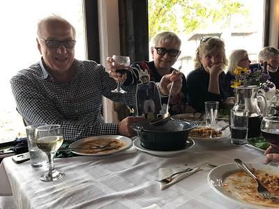 Kalosca, Hungary, Lunch at a farm with Al & Sylvia Safer, Beth Holmgren, Mary-Kathryn & Dick Roelofs