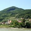 Vineyards and village in the Wachau Valley
