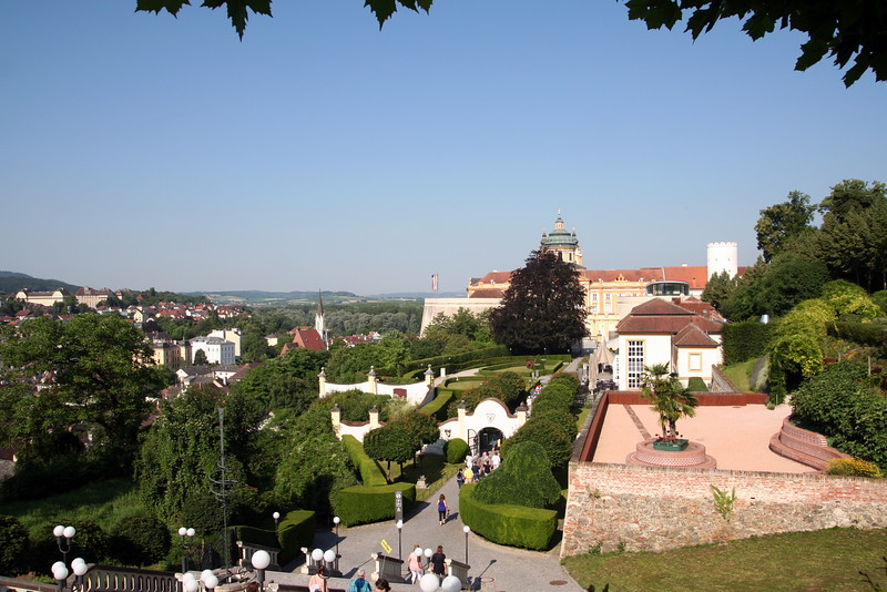 Melk Abbey with the Town of Melk in the background