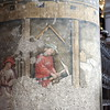 Mural on a pillar in the Franziskaner Church in Salzburg