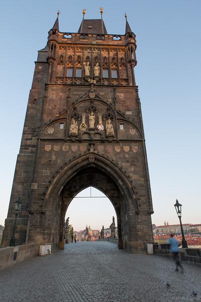 Prague - entrance to Charles Bridge