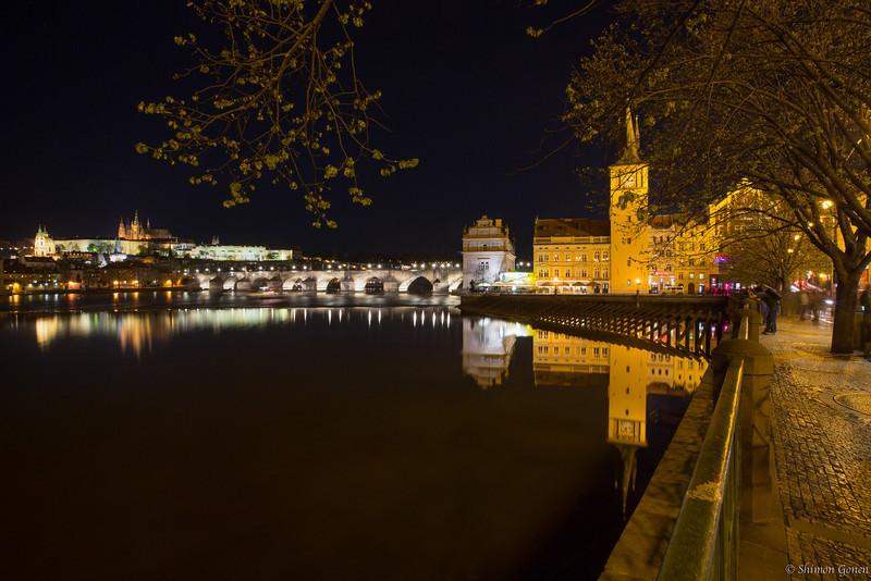 Prague - View of Charles Bridge and Castle