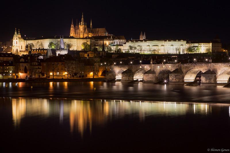 Prague - Charles Bridge and Castle reflections